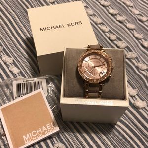NWT Michael Kors Rose Gold Watch
